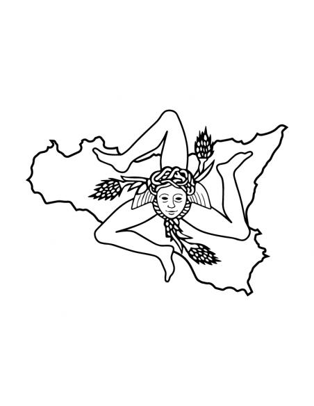 Trinacria Sicilia - Adesivo Prespaziato