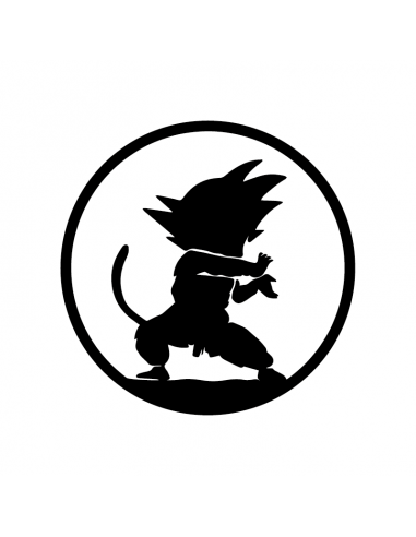 Goku Onda Energetica - Adesivo Prespaziato