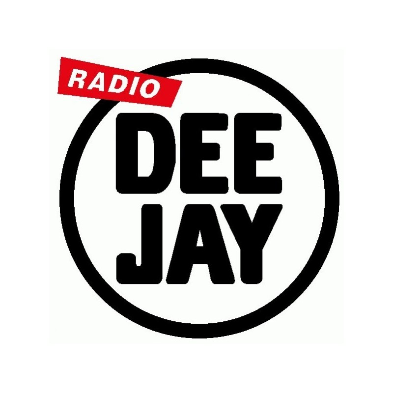 Radio DeeJay - Adesivo Prespaziato
