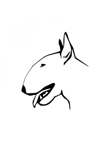 Bull Terrier 3 - Adesivo Prespaziato