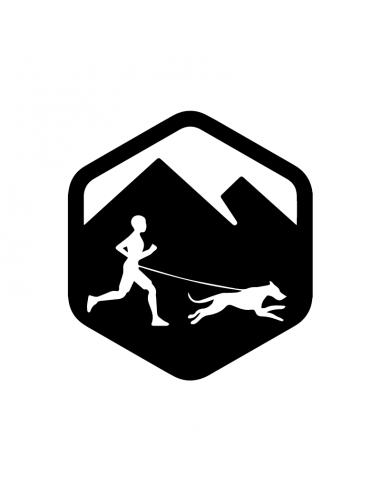 Canicross Montagne - Adesivo Prespaziato