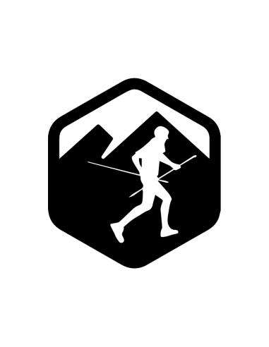 Trail Running Esagono - Adesivo Prespaziato