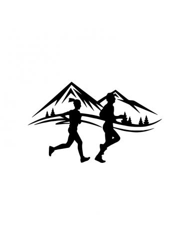Trail Running Montagne - Adesivo Prespaziato
