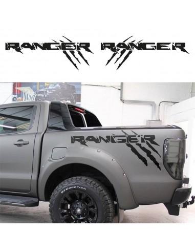 Coppia Ranger con Graffi - Adesivo Prespaziato