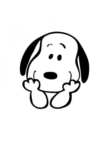 Snoopy Faccia - Adesivo Prespaziato