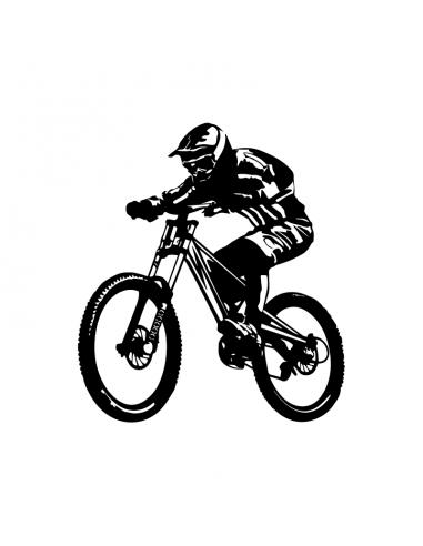 Downhill Bici - Adesivo Prespaziato