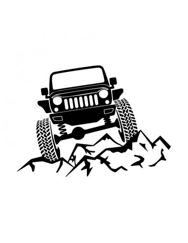 Montagne Jeep Fuoristrada - Adesivo...