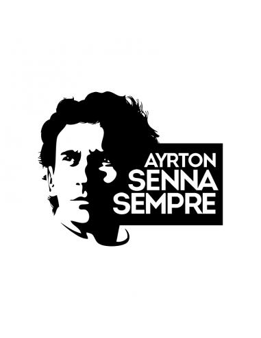 Ayrton Senna Sempre - Adesivo...