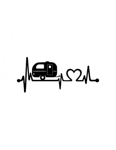 Love Caravan - Adesivo Prespaziato