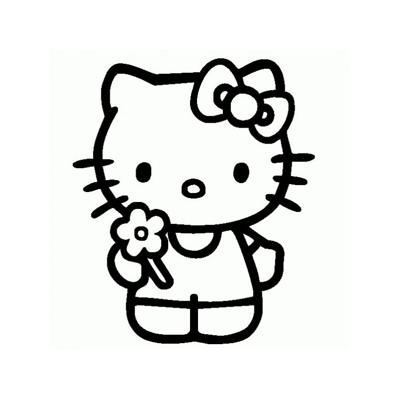Hello Kitty - Adesivo Prespaziato