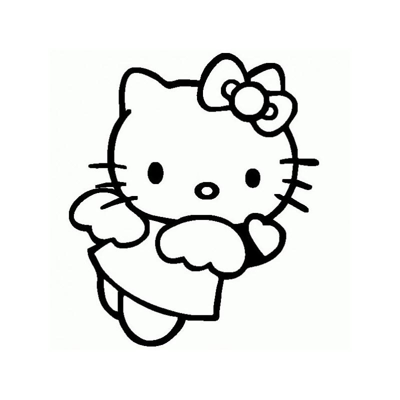 Hello Kitty Angel - Adesivo Prespaziato