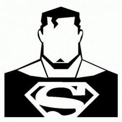 Superman - Adesivo Prespaziato