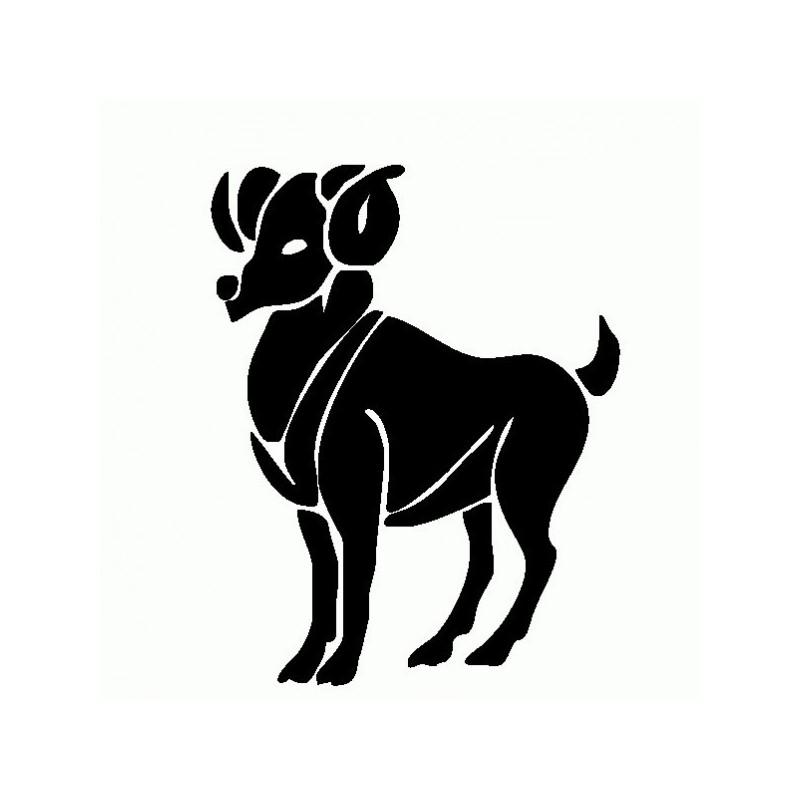 Ariete - Adesivo Prespaziato - Zodiaco