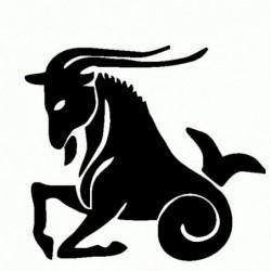 Capricorno - Adesivo Prespaziato - Zodiaco