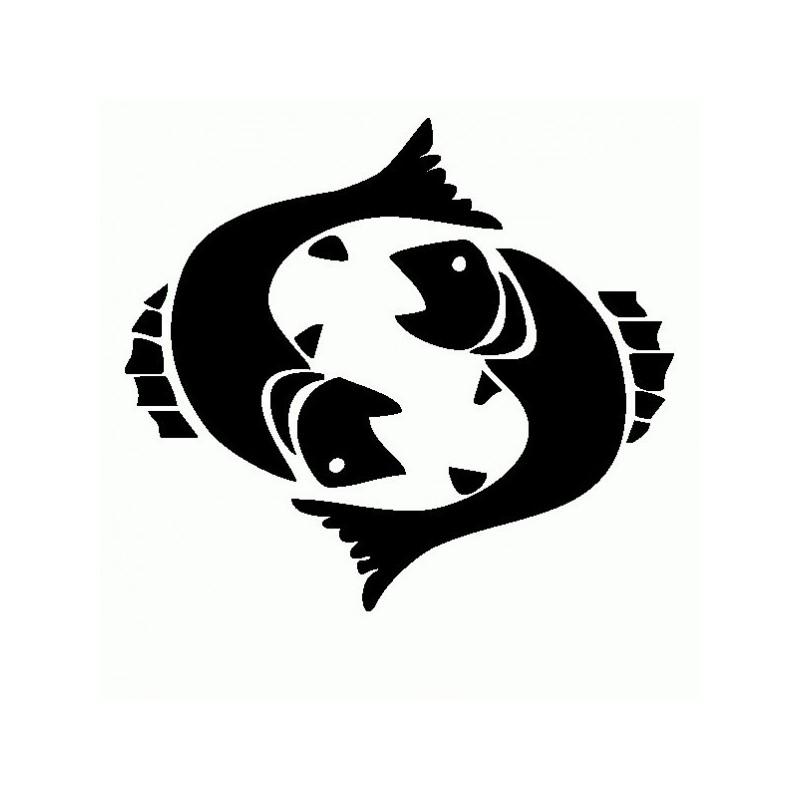 Pesci - Adesivo Prespaziato - Zodiaco