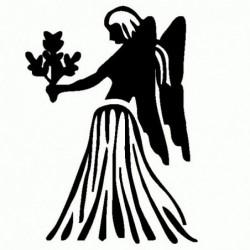 Vergine - Adesivo Prespaziato - Zodiaco