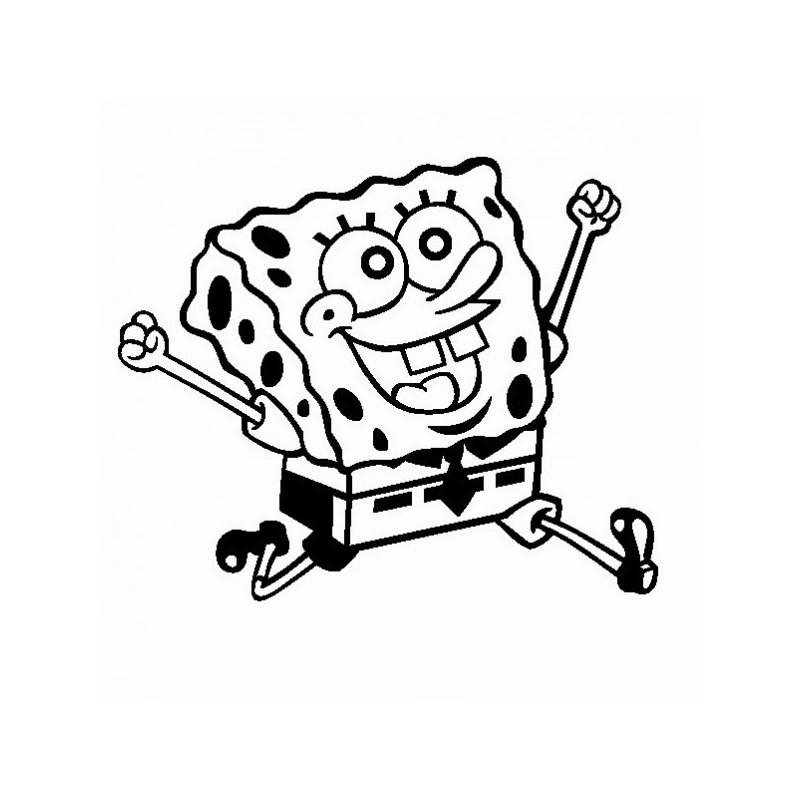 Spongebob - Adesivo Prespaziato