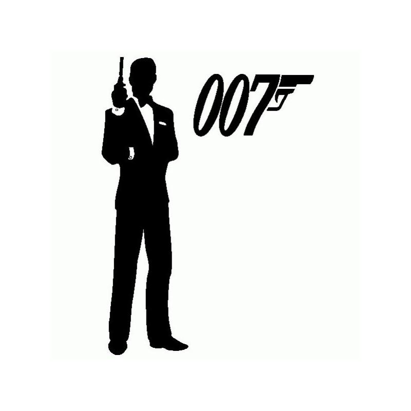 James Bond 007 - Adesivo Prespaziato