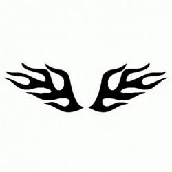 Tribale fuoco - Adesivo Prespaziato
