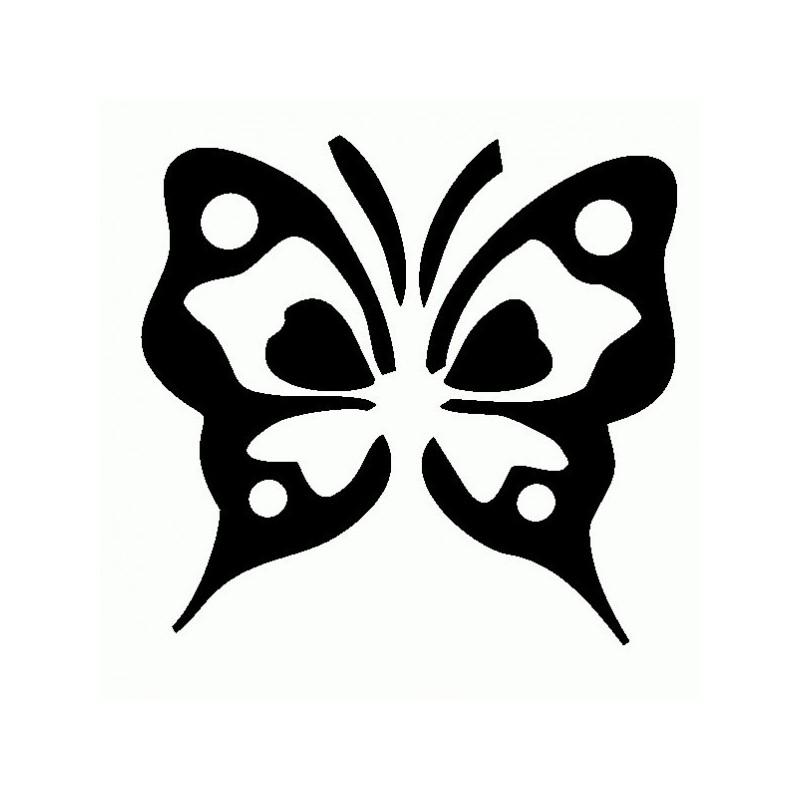 Farfalla tribale - Adesivo Prespaziato