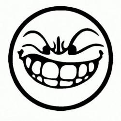 Faccia Smiley - Adesivo Prespaziato