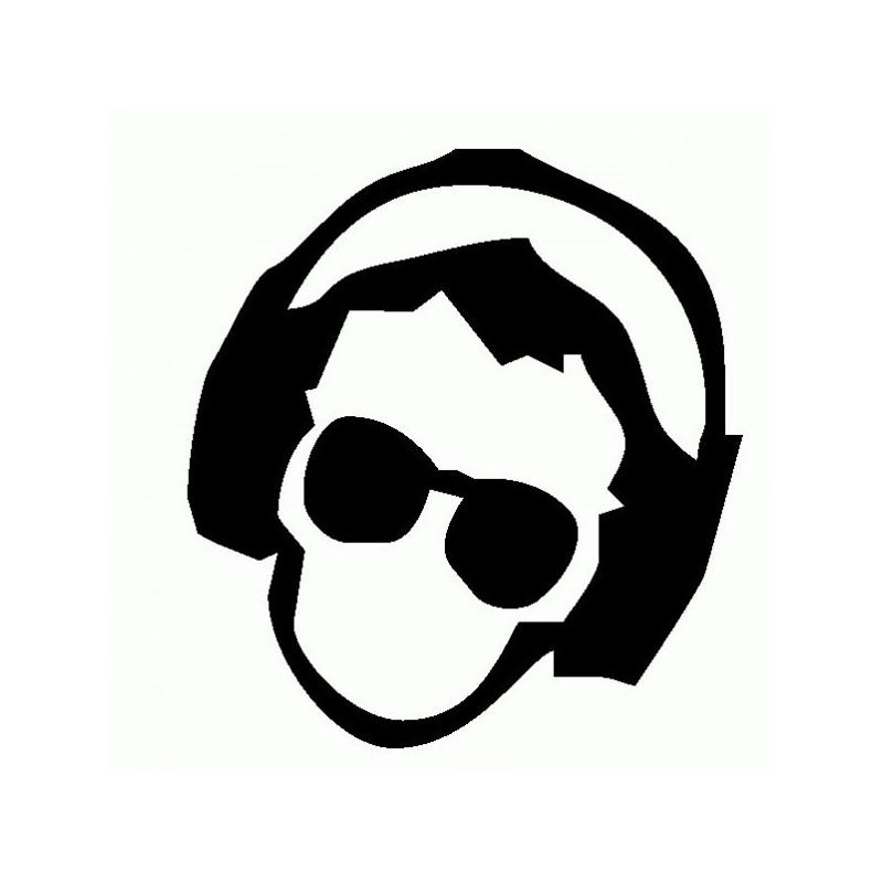 Uomo DJ - Adesivo Prespaziato