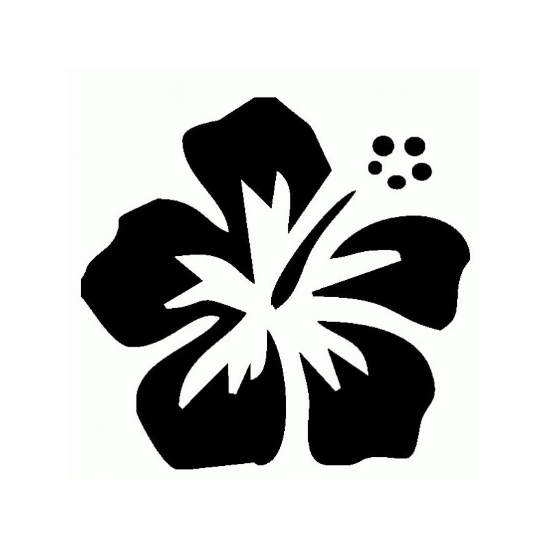 Fiore Hawaii - Adesivo Prespaziato
