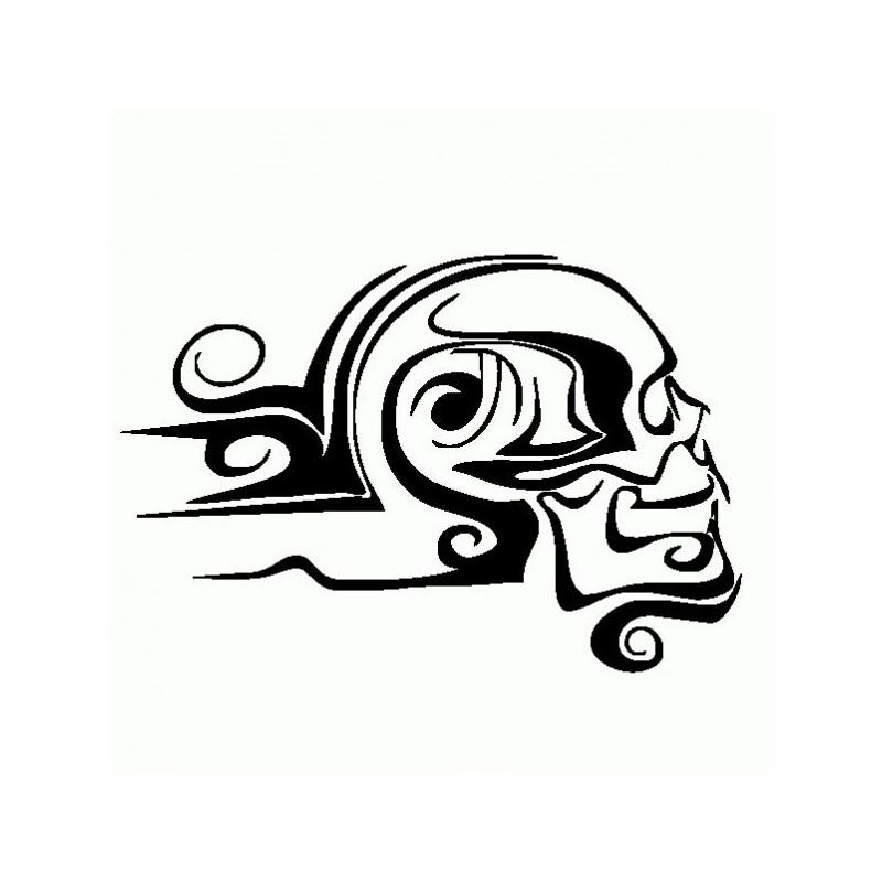 Teschio Tribale - Adesivo Prespaziato