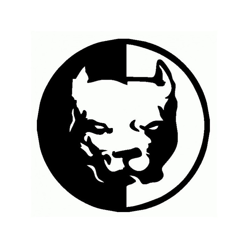 Pitbull Arrabbiato - Adesivo Prespaziato