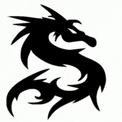 Dragon Tribale - Adesivo Prespaziato