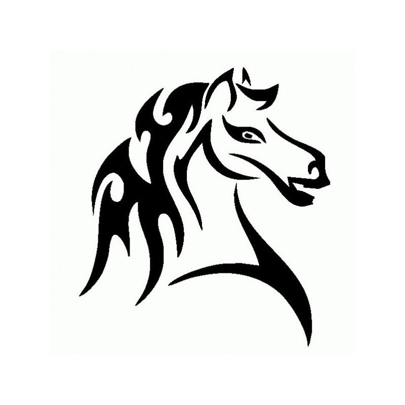 Cavallo Tribale - Adesivo Prespaziato