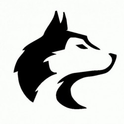 Husky Cane - Adesivo Prespaziato