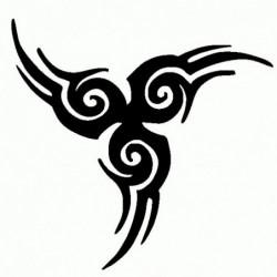 Tribale 4 - Adesivo Prespaziato