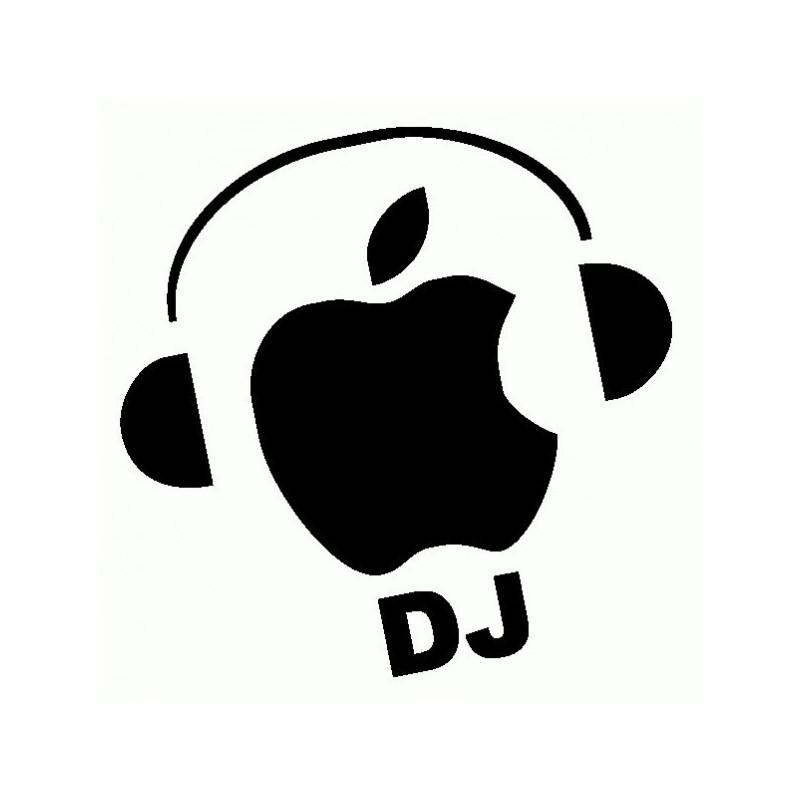 Apple DJ Mela - Adesivo Prespaziato