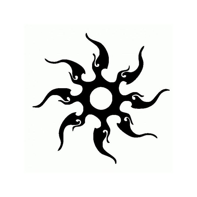 Sole Tribale - Adesivo Prespaziato