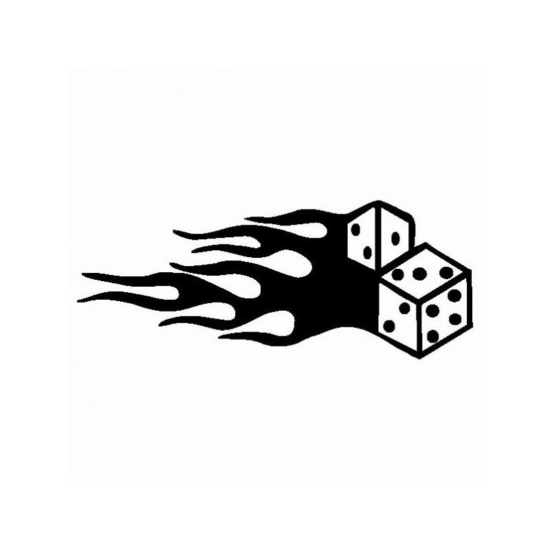 Dadi con fuoco - Adesivo Prespaziato