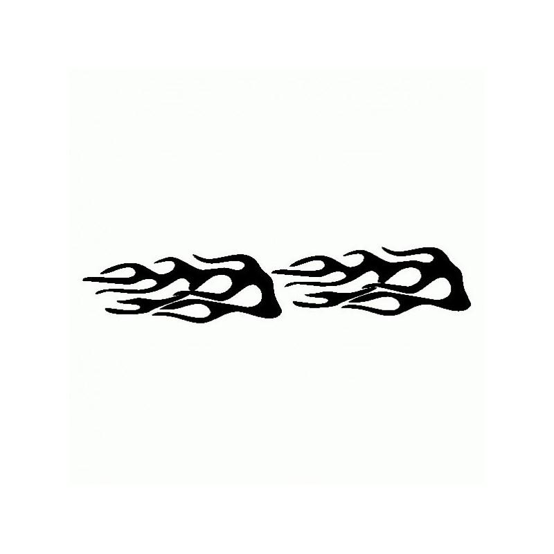 Fiamme Tribali 2 - Adesivo Prespaziato