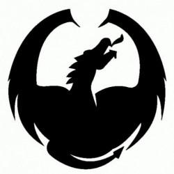 Drago - Adesivo Prespaziato