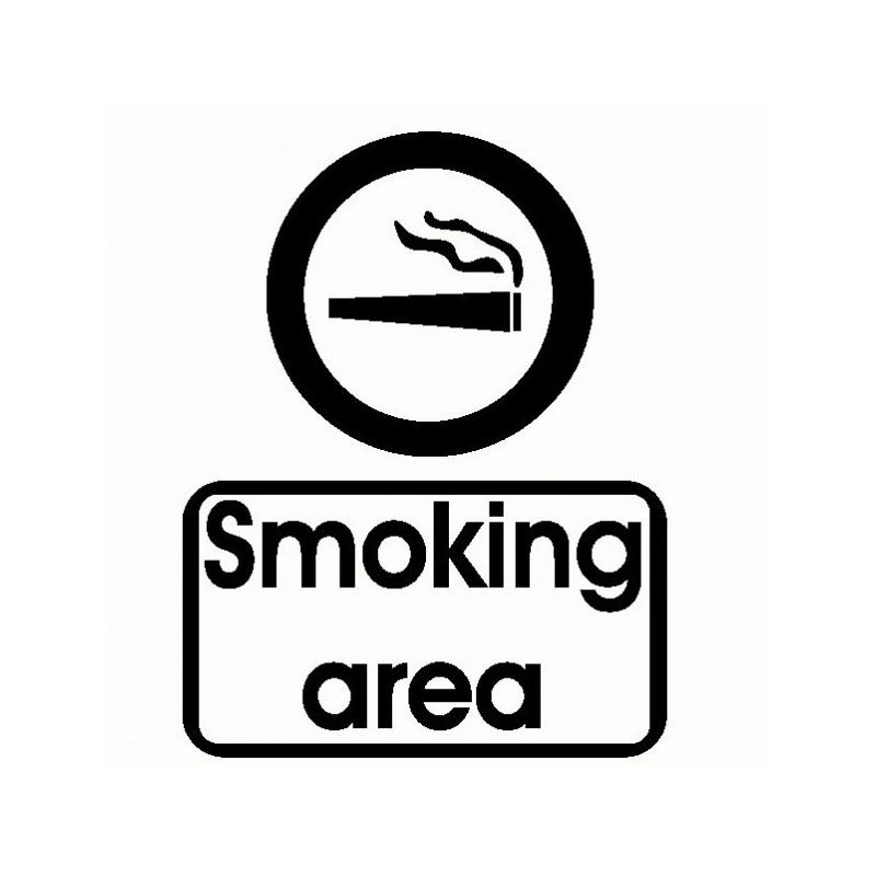 Canna Smoking Area - Adesivo Prespaziato