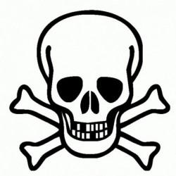 Teschio Pirati - Adesivo Prespaziato