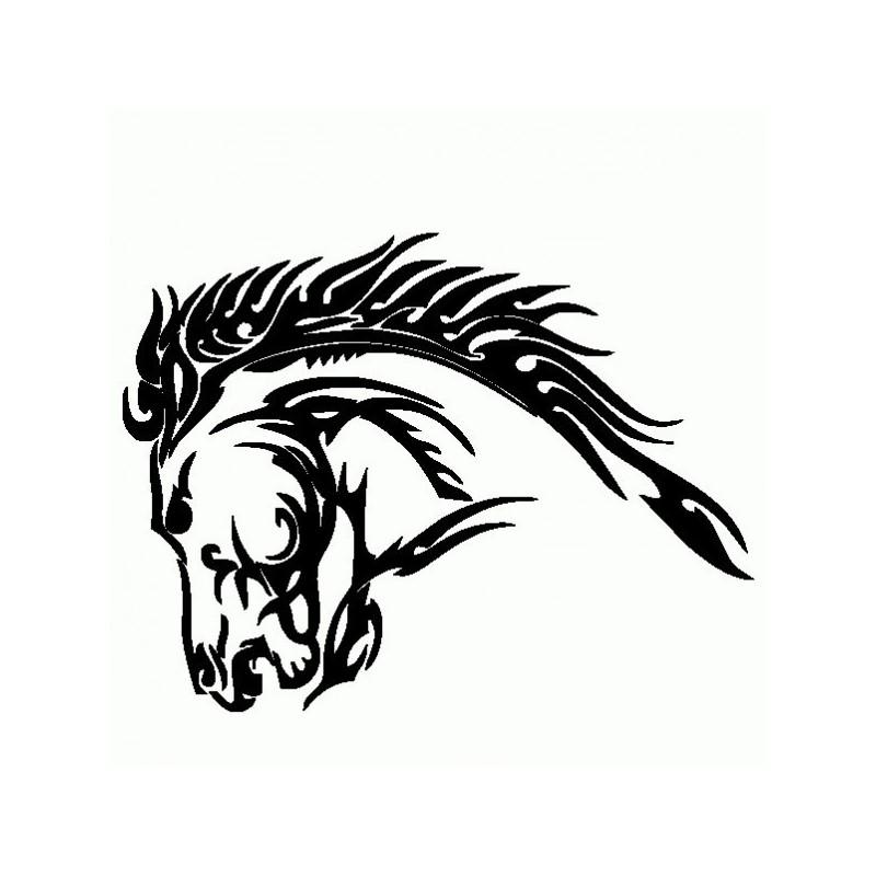 Cavallo Tribale 1 - Adesivo Prespaziato