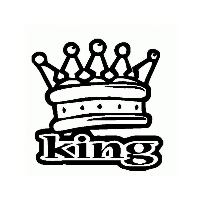 King Corona - Adesivo Prespaziato