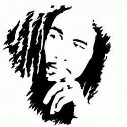 Bob Marley - Adesivo Prespaziato