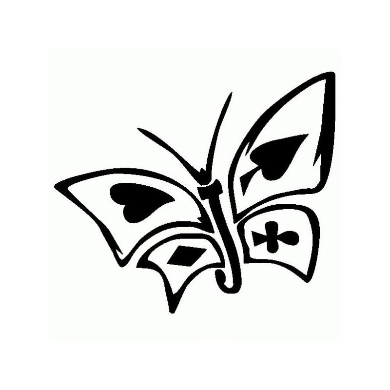 Farfalla Carte da Gioco - Adesivo Prespaziato