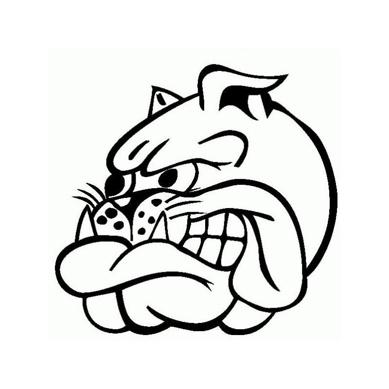 Bulldog Arrabbiato - Adesivo Prespaziato