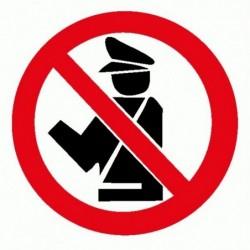 No Polizia Carabinieri - Adesivo Prespaziato