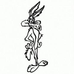 Willy Coyote - Adesivo Prespaziato