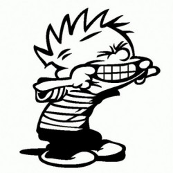 Calvin linguaccia - Adesivo Prespaziato