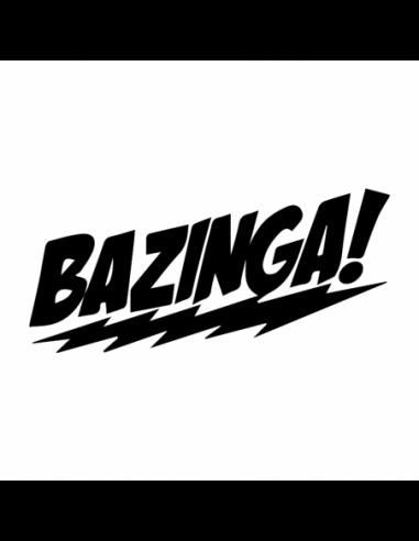 Bazinga 1 - Big Bang Theory - Adesivo Prespaziato