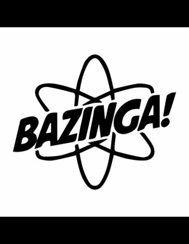 Bazinga 2 - Big Bang Theory - Adesivo Prespaziato